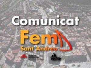 Comunicat Fem Sant Andreu